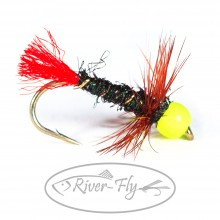 Мушка Chartreuse Red Tag Nimph